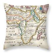 1710 De La Feuille Map Of Africa Throw Pillow
