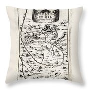 1719 Mallet Map Of The Source Of The Nile Ethiopia Abyssinia Geographicus Nil Mallet 1719 Throw Pillow