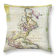 1720 Chatelain Map Of North America Geographicus Amerique Chatelain 1720 Throw Pillow