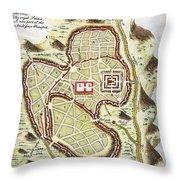 1730 Street Map Or Plan Of Jerusalem Geographicus Jerusalem Uk 1730 Throw Pillow