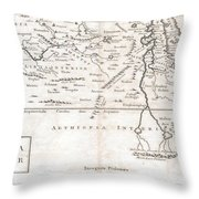 1730 Toms Map Of Central Africa Throw Pillow
