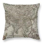 1745 Asia Map Throw Pillow