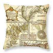 1747 Bowen Map Of The North Atlantic Islands Greenland Iceland Faroe Islands Maelstrom Geographicus  Throw Pillow