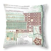 1750 Bellin Map Of Cape Town South Africa Throw Pillow
