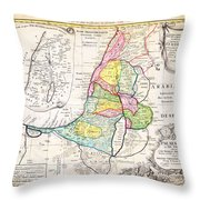 1750 Homann Heirs Map Of Israel Palestine Holy Land 12 Tribes Geographicus Palestina Homannheirs 175 Throw Pillow