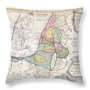 1750 Homann Heirs Map Of Israel  Palestine Holy Land  Throw Pillow