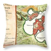 1756 Bellin Map Of Boston Massachusetts Geographicus Boston2 Bellin 1756 Throw Pillow