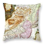 1756 Lotter Map Of Pennsylvania New Jersey New York Geographicus Pensylvanianovajersey Lotter 1756 Throw Pillow