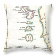 1760 Bellin Map Of The Moluques Throw Pillow