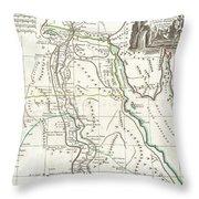 1762 Bonne Map Of Egypt  Throw Pillow