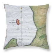1763 Bellin Map Of Cape Town  Throw Pillow