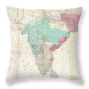 1768 Jeffreys Wall Map Of India And Ceylon Throw Pillow