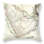 1771 Bonne Map Of Arabia Geographicus Arabia Bonne 1771 Throw Pillow
