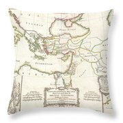1771 Bonne Map Of The New Testament Lands Holy Land And Jerusalem Throw Pillow