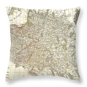 1771 Zannoni Map Of Poland And Lithuania Throw Pillow