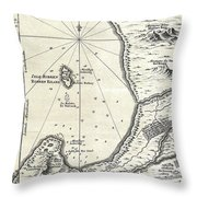 1773 Bellin Map Of The Cape Of Good Hope Capetown South Africa Throw Pillow