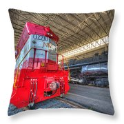 1776 And 1218 Locomotives Norfolk And Western Throw Pillow