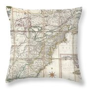 1779 Phelippeaux Case Map Of The United States During The Revolutionary War Throw Pillow