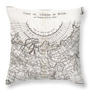 1780 Raynal And Bonne Map Of Russia Throw Pillow