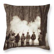 1781 Guilford Court House Battle Throw Pillow