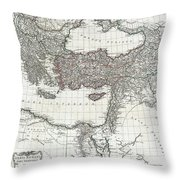 1782 D Anville Map Of The Eastern Roman Empire Throw Pillow