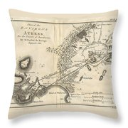 1785 Bocage Map Of Athens And Environs Including Piraeus In Ancient Greece Throw Pillow