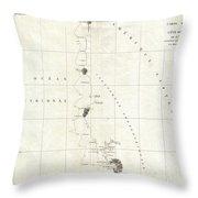 1786 La Perouse Map Of San Francisco Monterey Bay California And Oregon Throw Pillow