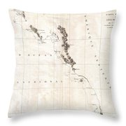 1786 La Perouse Map Of Vancouver And British Columbia Canada Throw Pillow