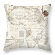 1787 Boulton  Sayer Wall Map Of Africa Throw Pillow