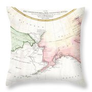 1788 Schraembl Map Of The Northwest Passage Throw Pillow