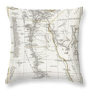 1794 Anville Map Of Ancient Egypt  Throw Pillow