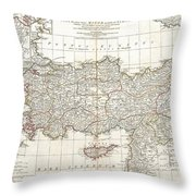 1794 Anville Map Of Asia Minor In Antiquity Throw Pillow