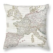 1794 Anville Map Of Europe In Late Roman Times Throw Pillow