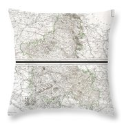 1797 Tardieu Map Of Champagne France Throw Pillow