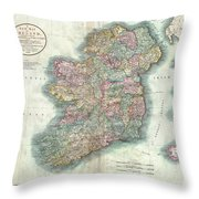 1799 Cary Map Of Ireland  Throw Pillow