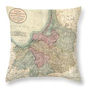 1799 Cary Map Of Prussia And Lithuania  Throw Pillow