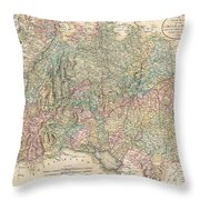 1799 Cary Map Of Swabia Germany Throw Pillow