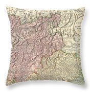 1799 Cary Map Of Tyrol Throw Pillow
