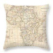 1799 Clement Cruttwell Map Of Africa  Throw Pillow