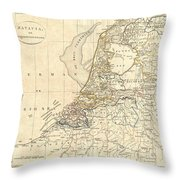 1799 Clement Cruttwell Map Of Holland Or The Netherlands Throw Pillow