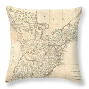 1799 Cruttwell Map Of The United States Of America Throw Pillow