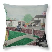 17th And Hutchins Street Portsmouth Ohio Throw Pillow