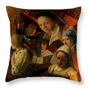 17th Century Maidens Throw Pillow