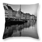 17th Century Scandinavian Canal Throw Pillow