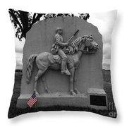 17th Pennsylvania Cavalry Monument Gettysburg Throw Pillow