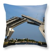 17th Street Drawbridge Throw Pillow