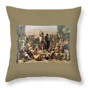 Greek Shepherd And Maiden Throw Pillow