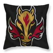 Calgary Flames Throw Pillow