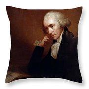 James Watt (1736-1819) Throw Pillow
