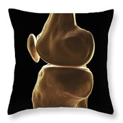 Knee Bones Right Throw Pillow